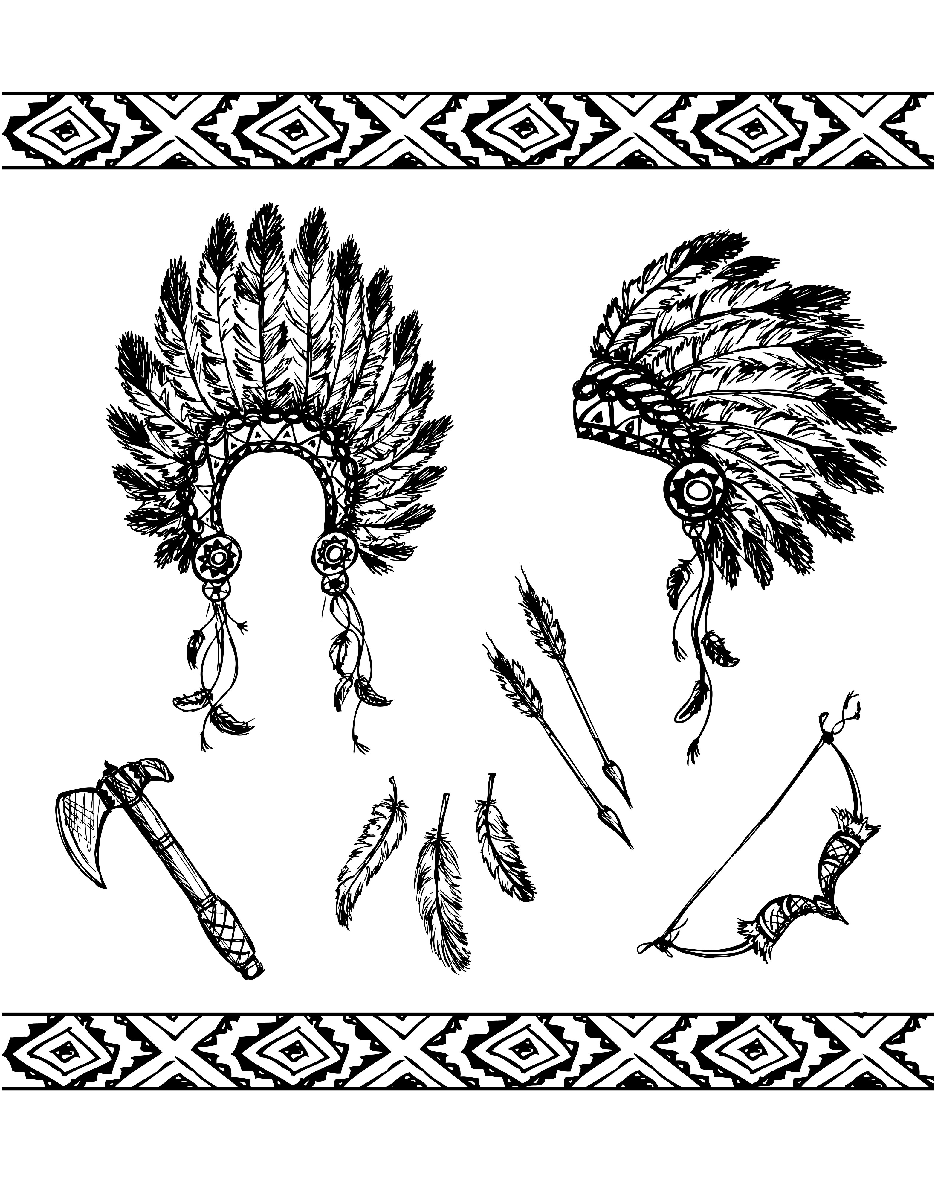 Native American Symbols Native American Coloring Pages For