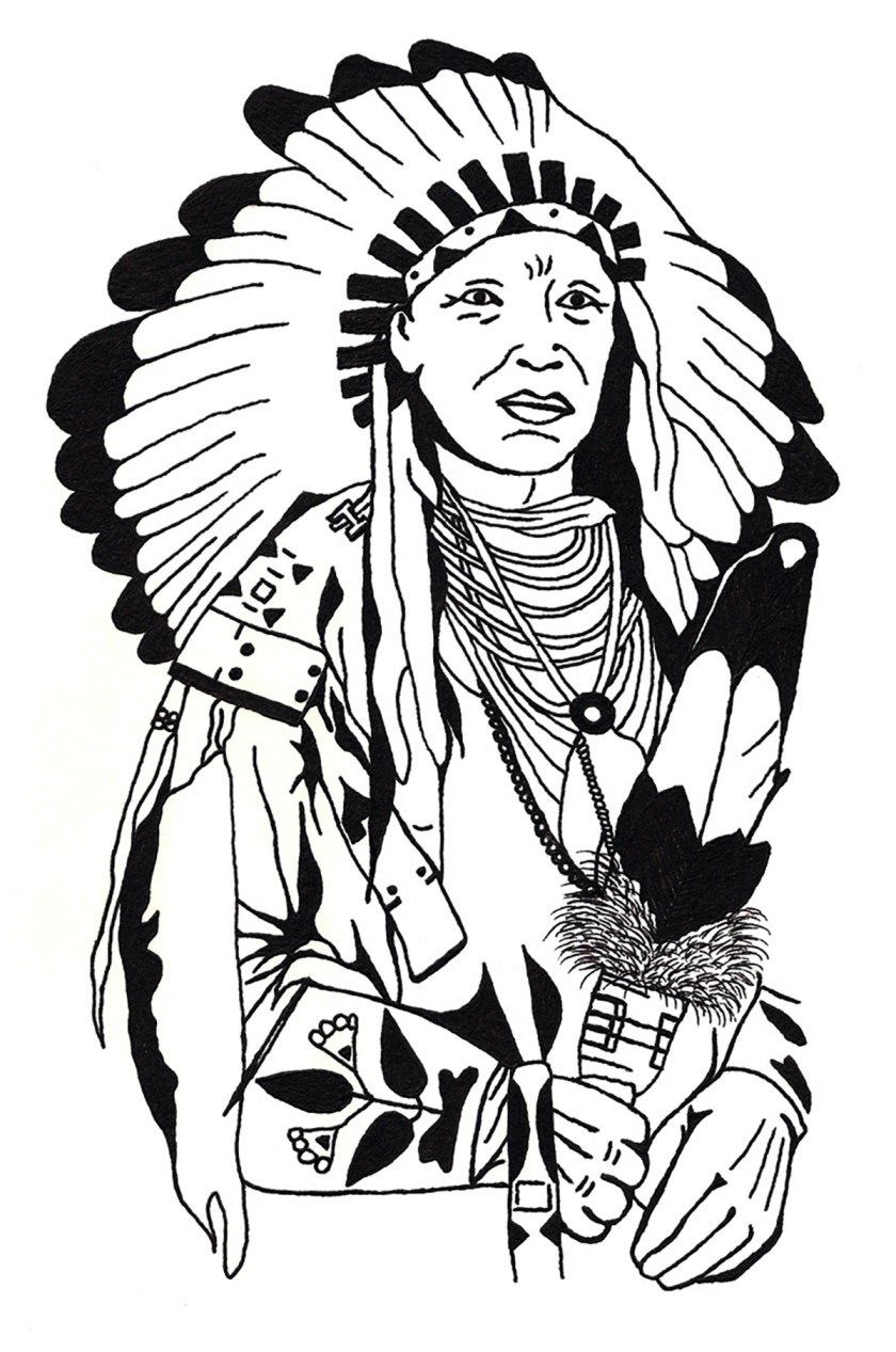 drawing native american  native american adult coloring pages