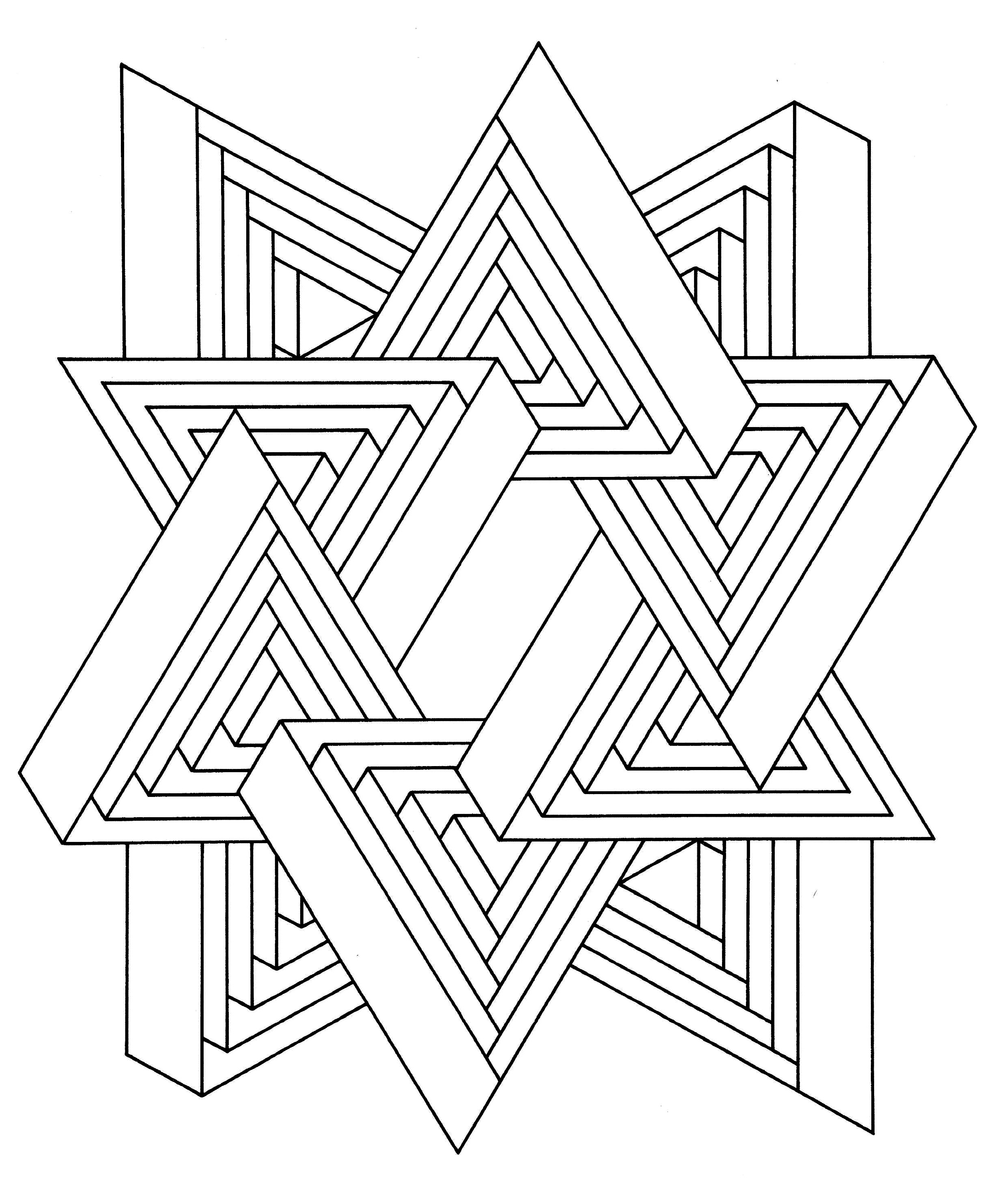 Op Art Jean Larcher 11 Op Art Coloring Pages For Adults