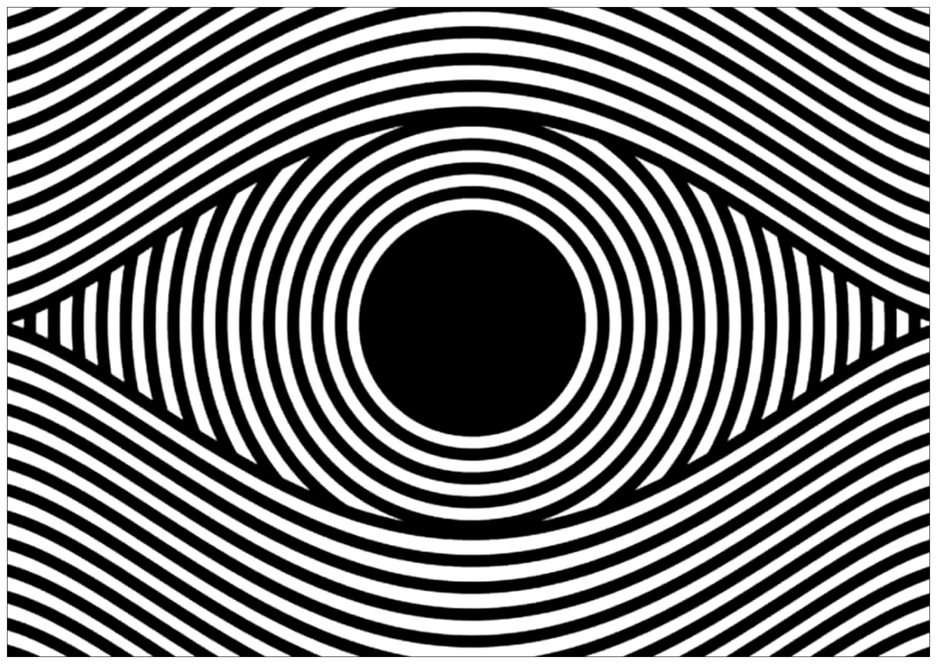 Op Art Eye Landscape Format