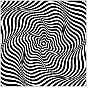 optical illusions coloring pages # 17