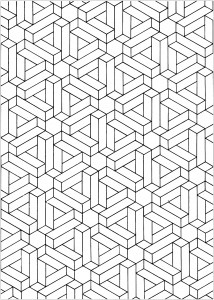 optical illusions coloring pages # 0