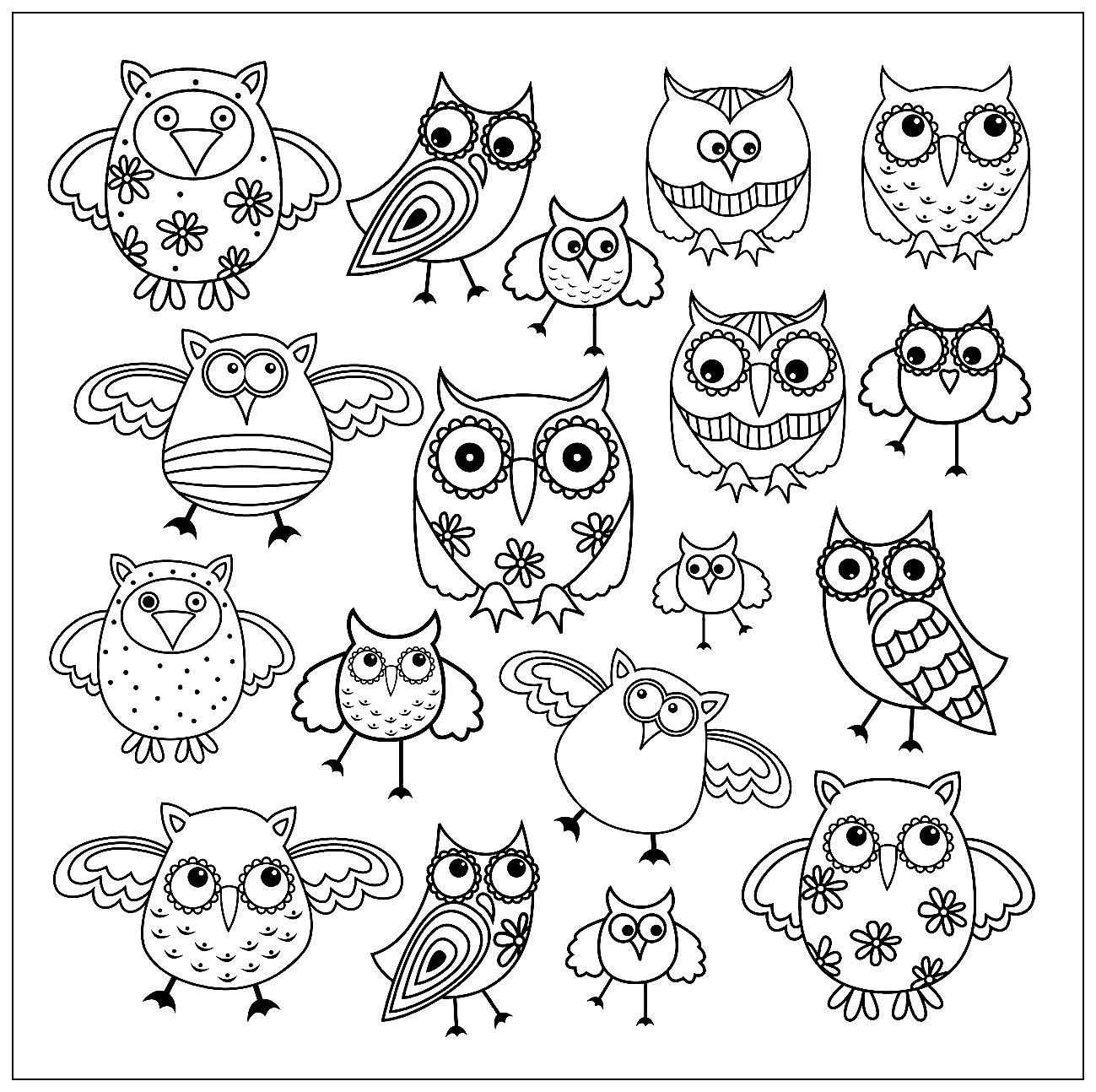 Doodle Owls 2