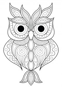 printable owl coloring pages # 2