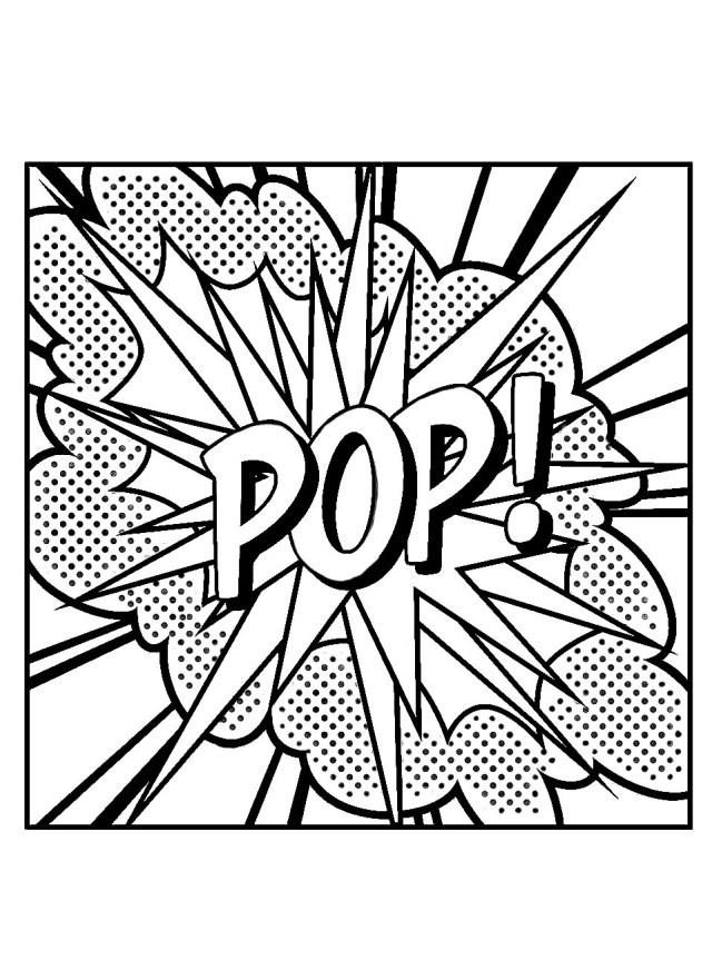 Pop roy lichtenstein - Pop Art Adult Coloring Pages