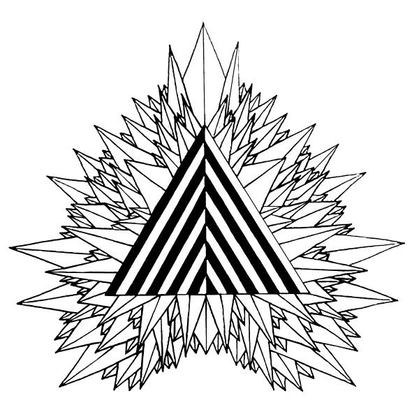 triangle coloring page # 45