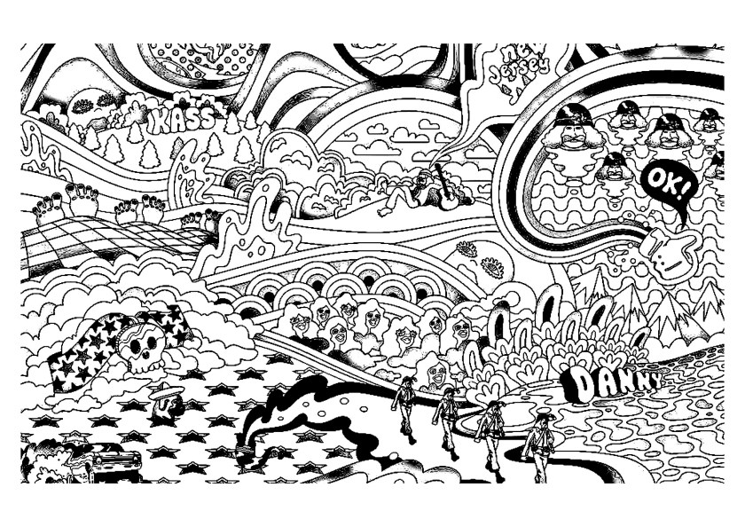 psychedelic  coloring pages for adults  coloring