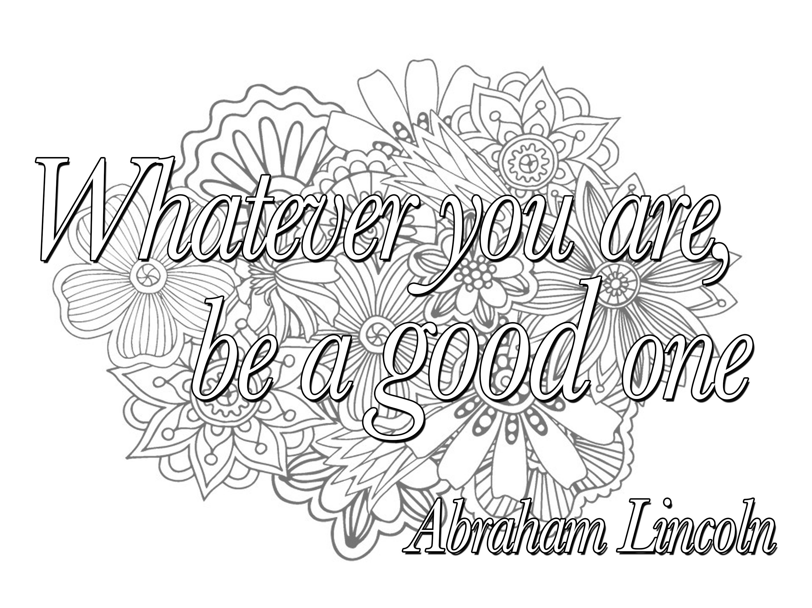 Quote Whatever You Are Be A Good One