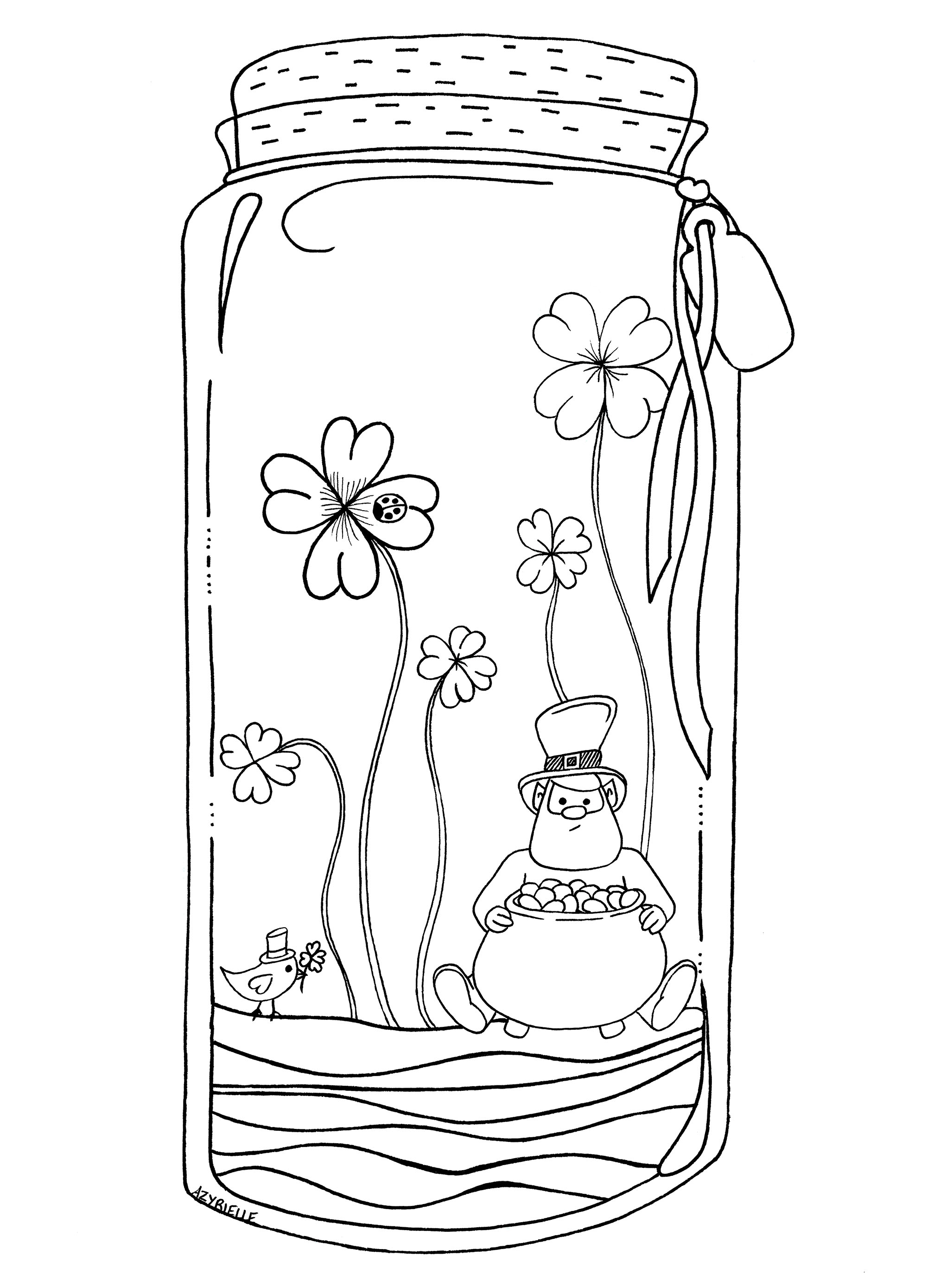 Saint Patrick Day Azyrielle St Patrick S Day Adult Coloring Pages