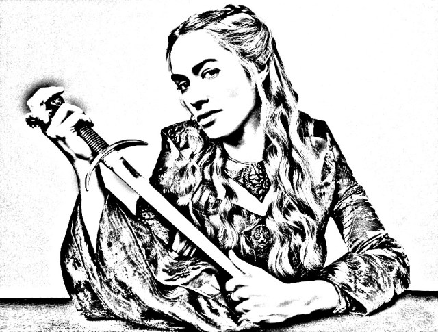 Game of throne cersei lannister - TV shows Adult Coloring Pages