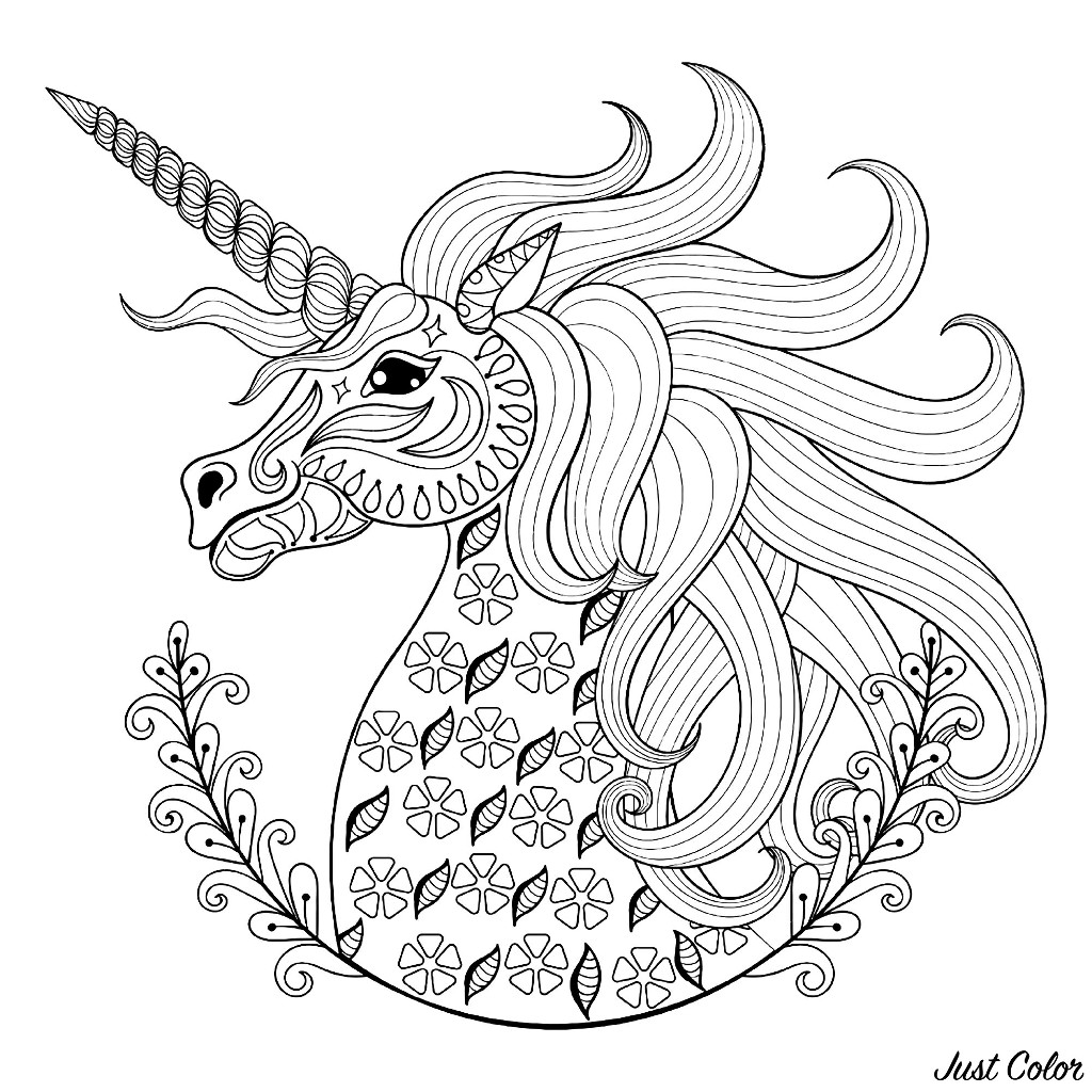 Unicorn Head With Patterns