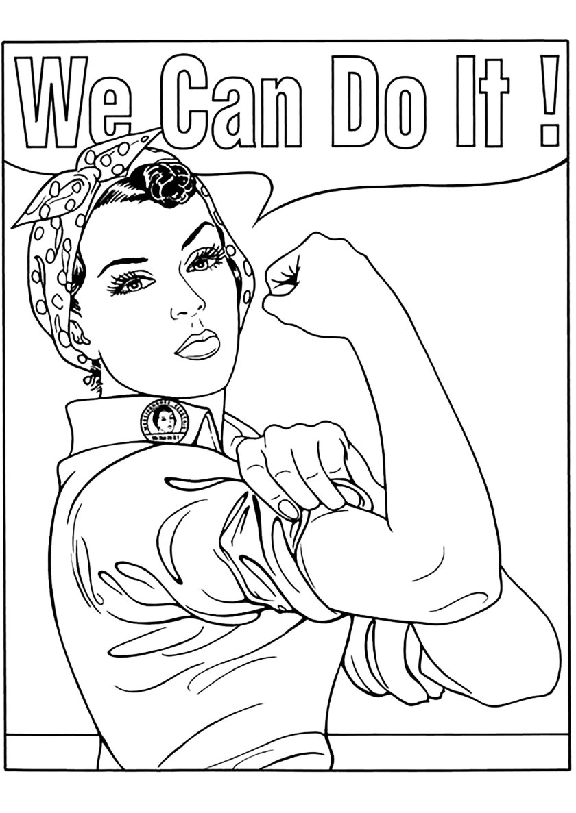 we can do it  vintage adult coloring pages