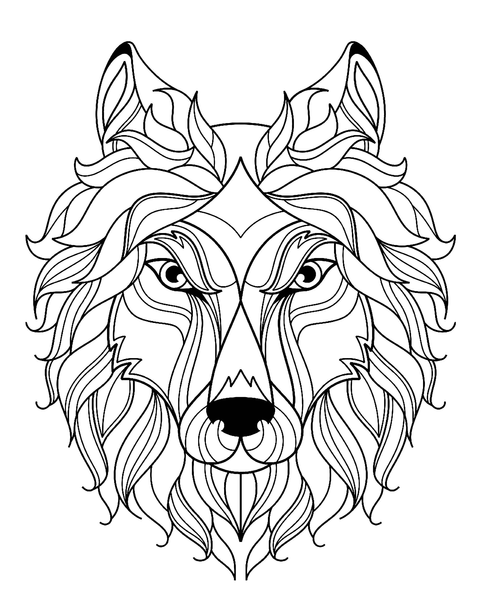 Big Wolf Head Simple
