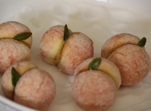 Pesches:  Custard Filled Italian Peach Cookies