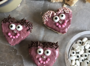 Valentine's Rice Crispy Monsters