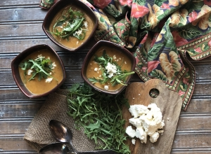 An Unrecipe:  Roasted Onion and Squash Soup