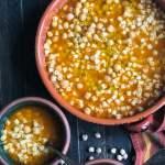 Quick pasta e ceci: chick pea pasta soup