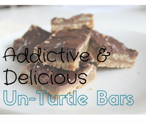 These bars are so rich and delicious, full of chocolate and pecans and all things Turtle-like.