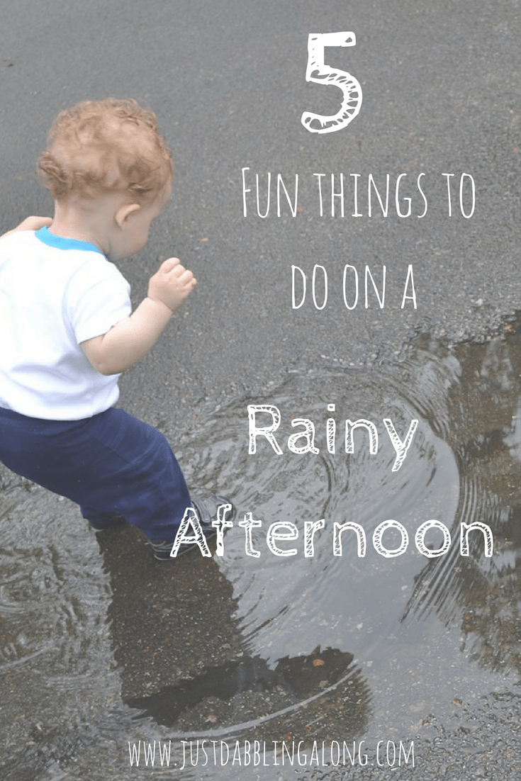 5 Fun things to do on a rainy afternoon