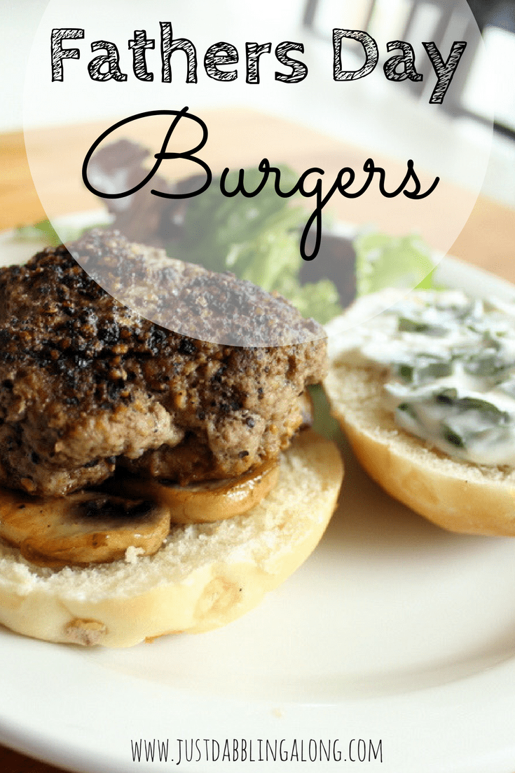 What better way to celebrate Father's Day, than with a bunch of burgers on the BBQ? This Father's Day make sure you try these delicious, juicy, slightly peppery burgers.