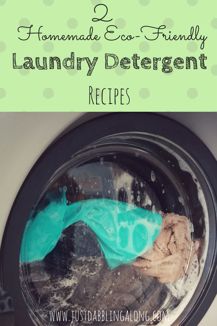 Here are 2 excellent recipes for eco-friendly laundry detergent