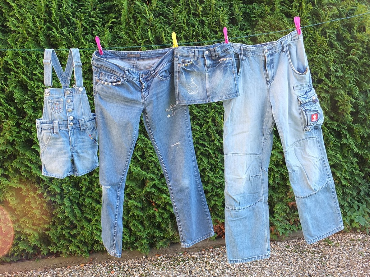 Wear those jeans more than once, hang those clothes to dry....