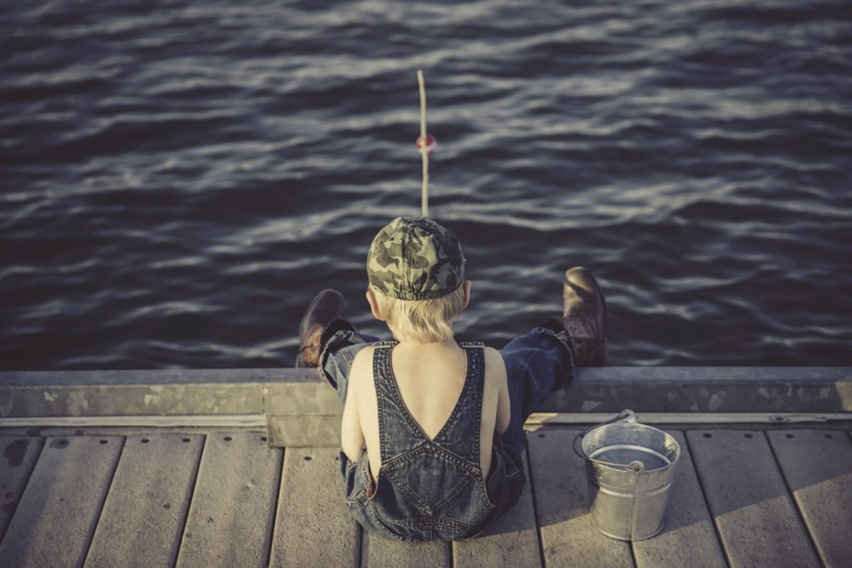 If you are near a lake this camping trip, you have to at least try to catch a fish, don't you?