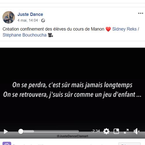 publication facebook juste dance