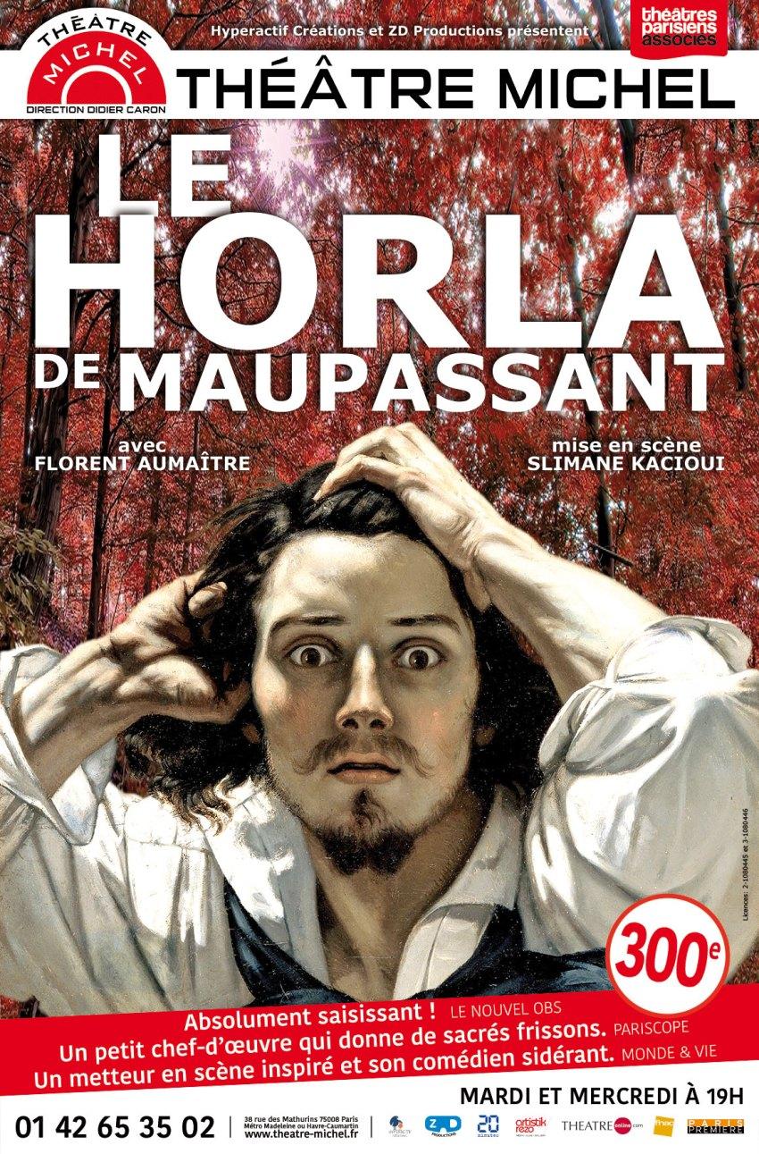Le Horla au Théâtre Michel, avec Florent Aumaïtre