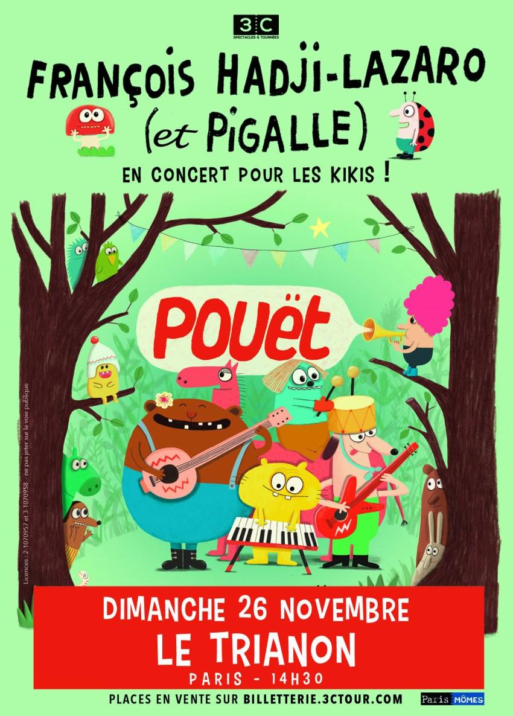 François Hadji-Lazaro et Pigalle en concert pour les kikis au Trianon le 26/11