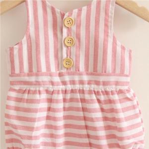 Pink & White Striped Bubble Onesie