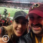 Grace and I had a blast even though the Redskins blew it in the 4th. WHO THE HELL GOES FOR TWO AFTER A PHENOMENAL DRIVE RATHER THAN TIE THE GAME AND GO INTO OVERTIME?!?!?!!?!