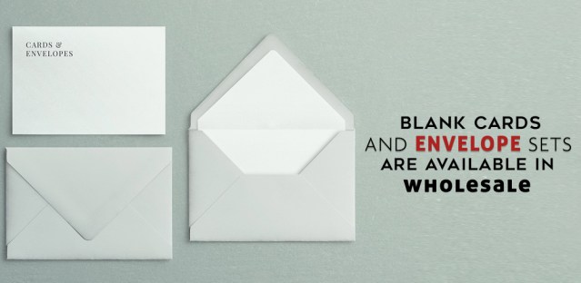 Blank Cards And Envelope Sets Are Available In Wholesale
