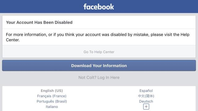 Disabled or blocked facebook account: easy ways to resolve