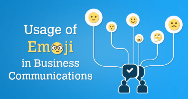 How are emojis used in business communications?