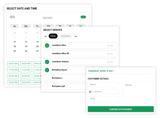 Salon Online booking system,