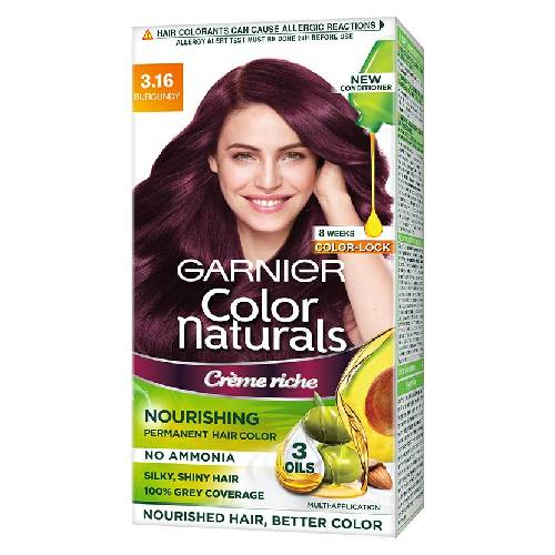 Garnier Color Naturals Crème hair color, Shade 3.16 Burgundy