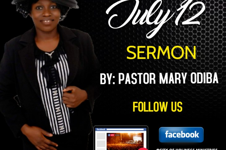 [PDF SERMON] The City Of Holiness Ministry Sunday By Pastor Mary Odiba