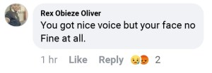 20200812_190440-300x104 You got nice voice but your face no fine at all - Facebook user comment on Ada Ehi's post