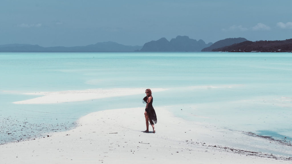 Kerrie from just go travelling on Laem Had Beach