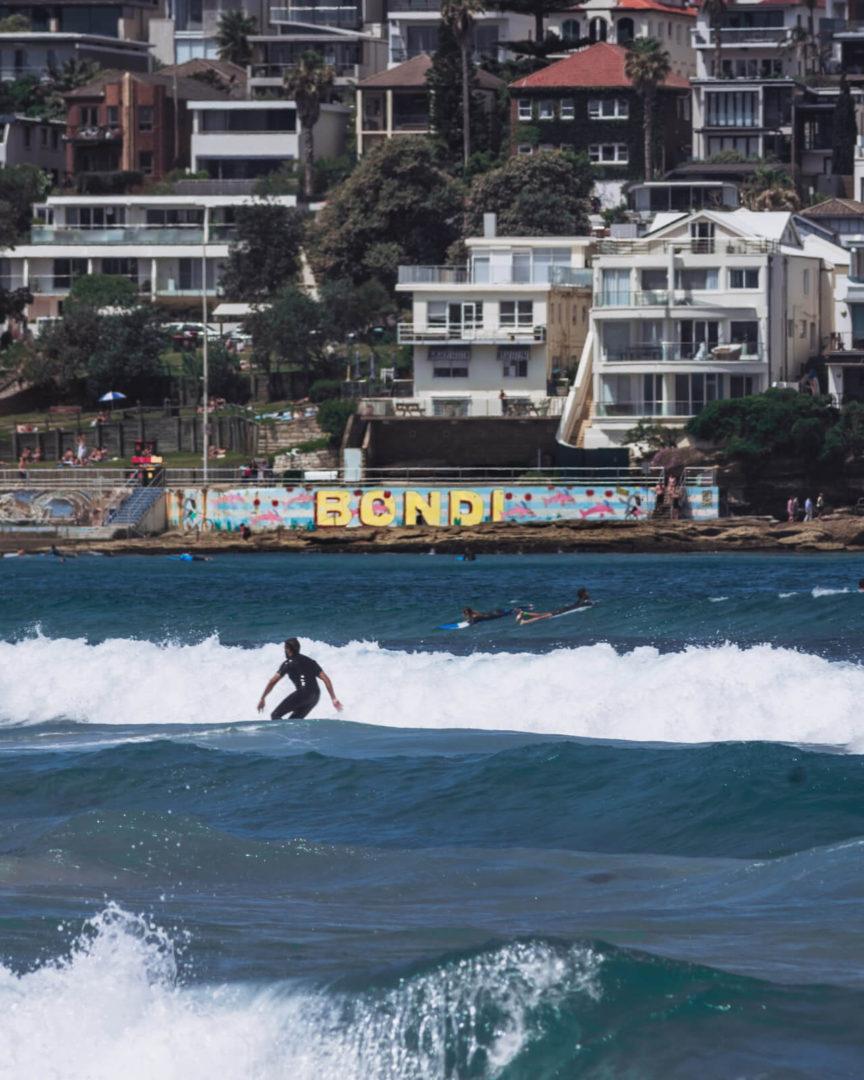 bondi beach surfers surfing