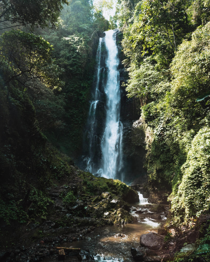 Picture of melanting waterfall in munduk