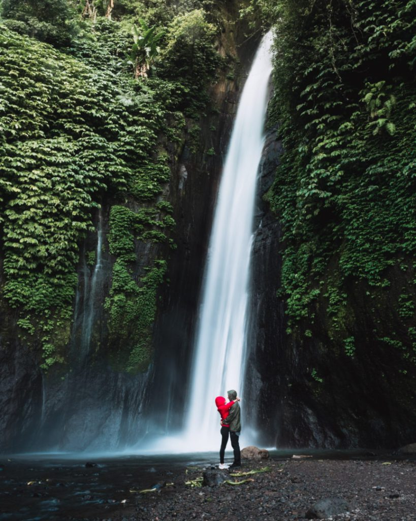 Munduk waterfall AKA Red Coral waterfall in Bali