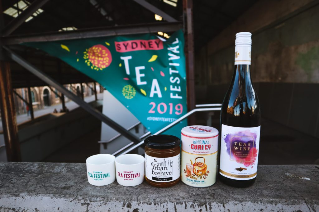 Sydney tea festival items, honey, chai and wine
