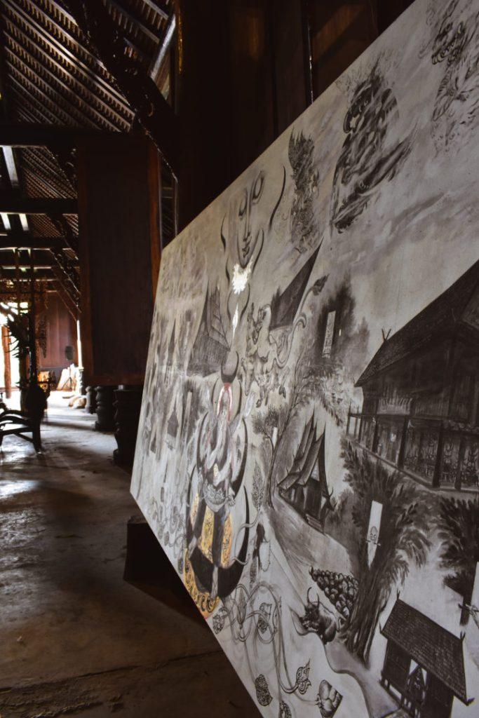 Black House Chiang Rai Art Work