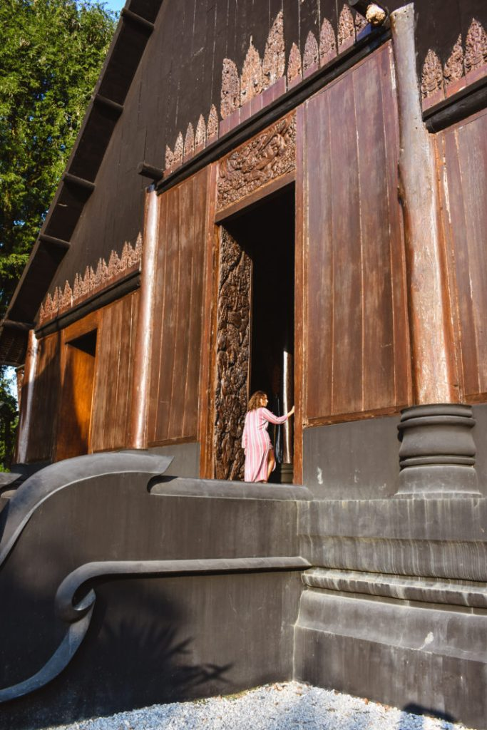black house museum entrance, big doors