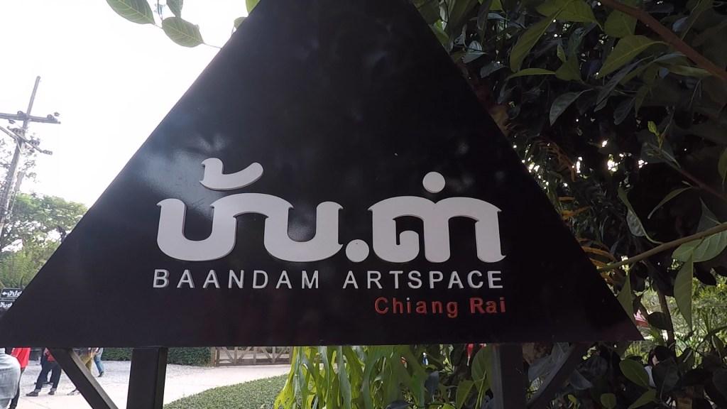 Black House Museum Baandam Artspace Chiang Rai Sign