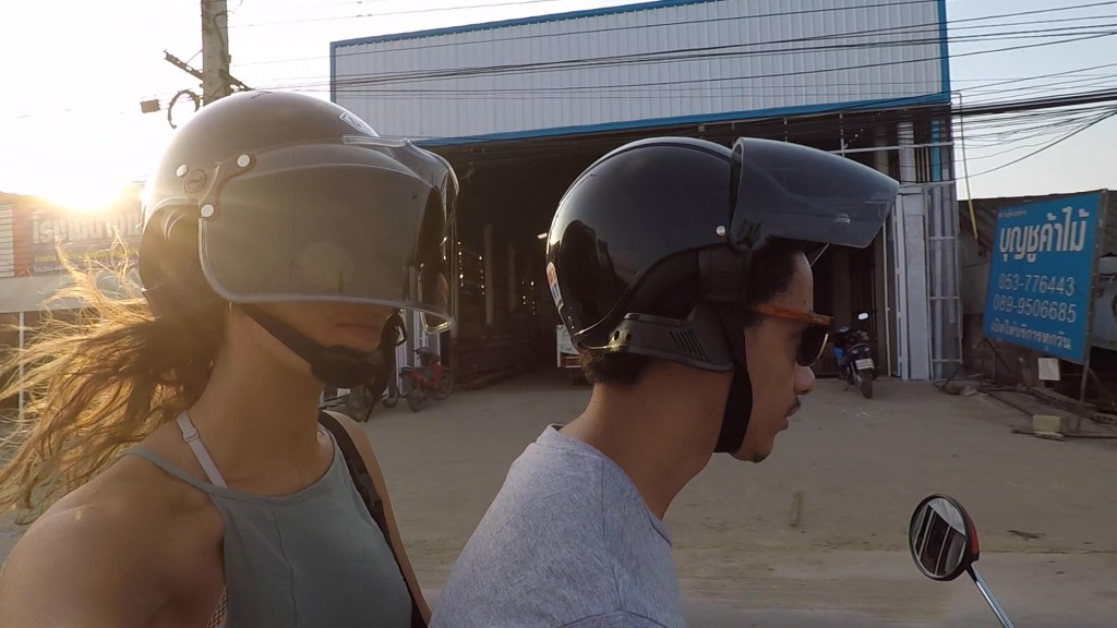 Scooter ride to the Black House Museum in Chiang Rai