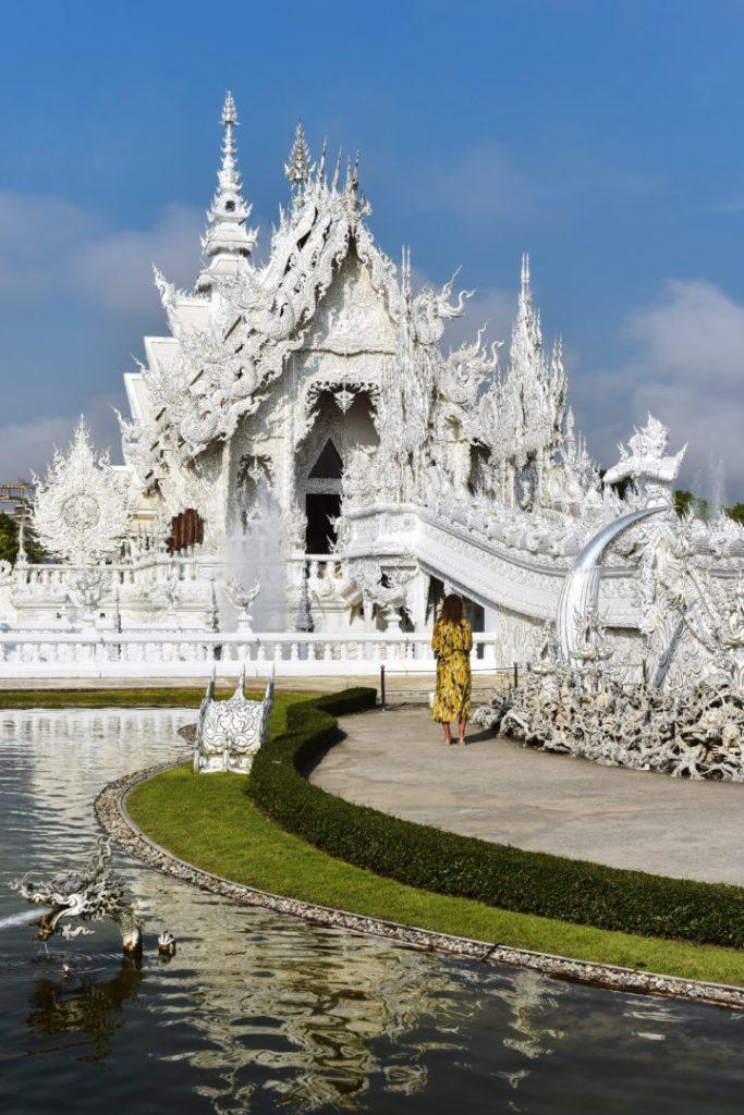 White Temple Exterior Thailand
