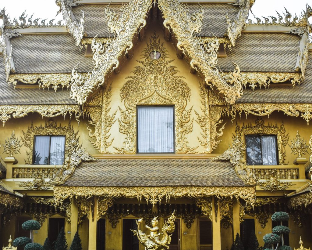 White temple gold toilets temple in chiang rai